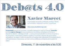 Deb@ts 4.0 amb Xavier Marcet