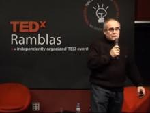 Un moment de la xerrada de Jordi Delgado